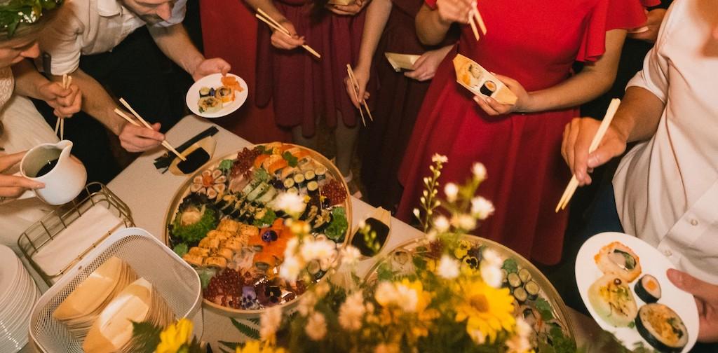 Sushi weselne - niestandardowe wesele w Krakowie